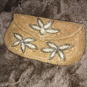 Vintage beaded clutch pouch Japan made